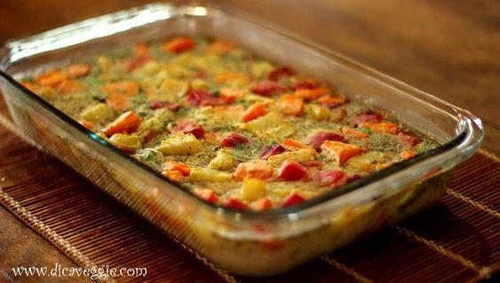 Torta salgada de legumes (sem glúten)