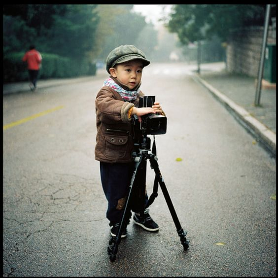 Kid with Hasselblad