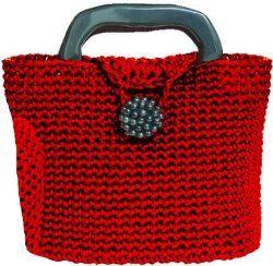 Little Red Crochet Bag