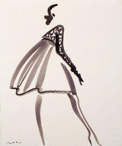 Fashion Illustration by Mats Gustafson (Swedish, | http://my-top-world-fashion-models.blogspot.com