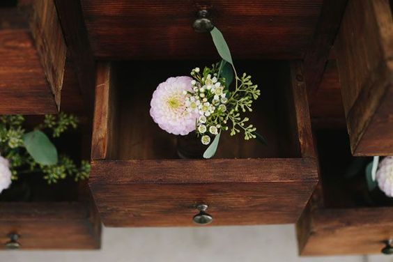 flowers in chest of drawers    photo by Lato Photography