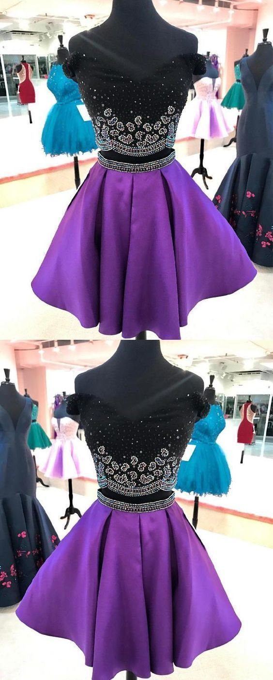 Final Sale Zoey Metallic Lace Two Piece Dress Purple Homecoming Dress Short Short Dresses Casual Two Piece Homecoming Dress [ 2247 x 1500 Pixel ]