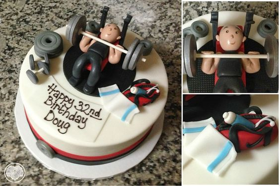 Weight Lifting Birthday Cake For A Personal Trainer