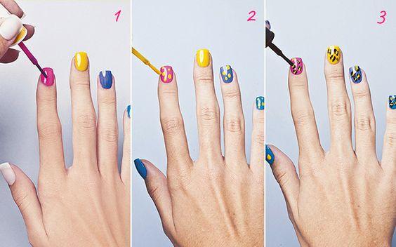 Passo a passo: 3 ideias de nail arts coloridas para você usar no Carnaval! - Clube do Esmalte - CAPRICHO