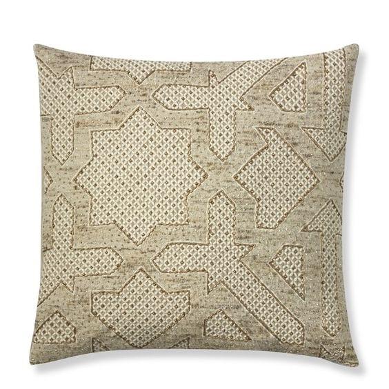 Beaded cushion. Geometric, Islamic, tile pattern