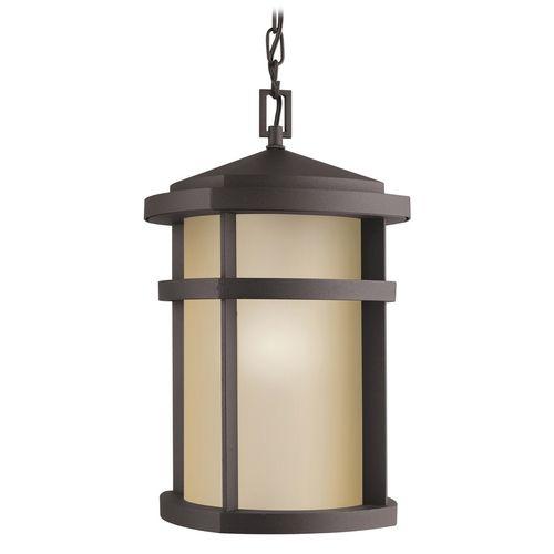 Kichler Lighting Kichler Modern Outdoor Hanging Light in Bronze Finish | 9567AZ | Destination Lighting