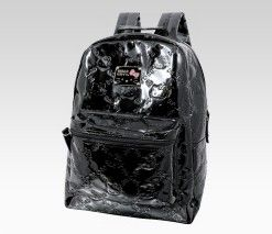 An image of Hello Kitty Black Backpack: Embossed,