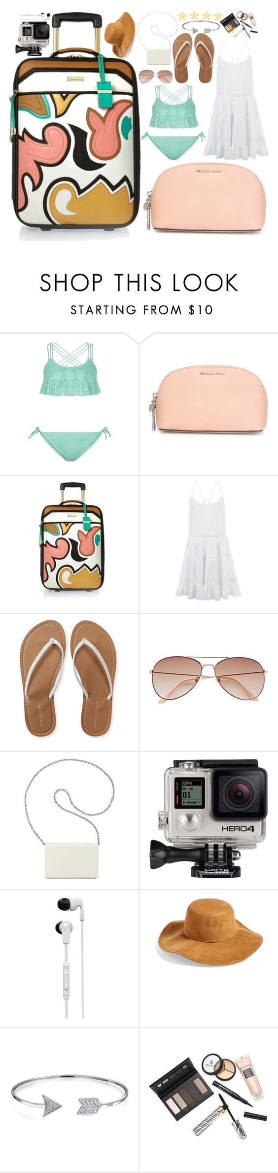 """""""Trip to Australia #67"""" by sophie-ericksen ❤ liked on Polyvore featuring New Look, MICHAEL Michael Kors, River Island, Accessorize, Aéropostale, H&M, Nine West, GoPro, Skullcandy and Collection XIIX"""