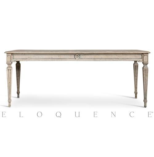 Eloquence¨ Gustavian Dining Table in Oak Driftwood