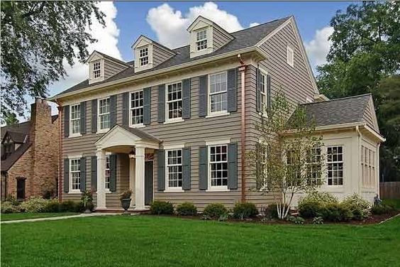 Paint Color Ideas For Colonial Revival Houses Paint Colors Exterior Colors And Entry Doors