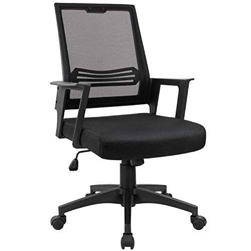 Devoko Office Chair Ergonomic Mid Back Swivel Mesh Desk Chair