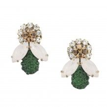 The Honey Bee Earrings, Evergreen