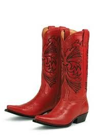 not really sure why I don't own a pair of red cowboy boots yet…