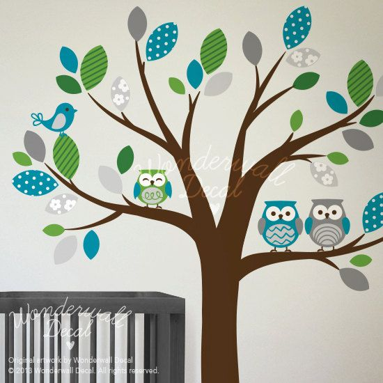 Children Vinyl Wall Decals Nursery Tree Wall by WonderwallDecal
