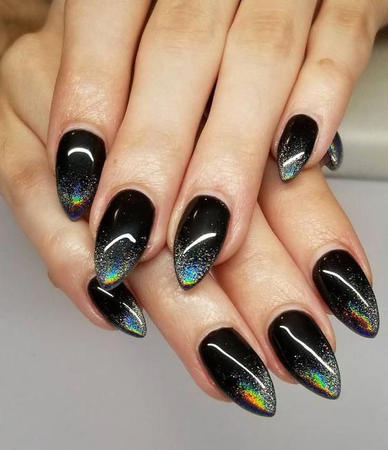 Pin By Angeline Orellana On Nailz In 2020 Goth Nails Witchy Nails Rainbow Nails
