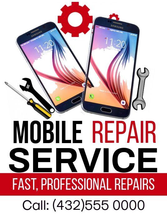 Poster Smartphone Repair Cell Phone Repair Shop Phone Repair
