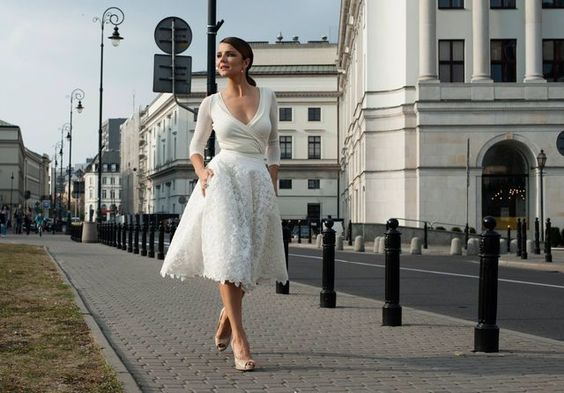 Krótkie suknie ślubne (FOTO)