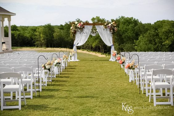 Outdoor #wedding ceremony