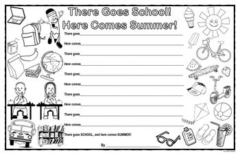 As we move from school and head into summer, this is a fun way to get students thinking about the things they did during the school year, and to look ahead their summer vacation. This would be an easy end of the year writing activity for your students.This download contains:1. 1 copy of the My Thinking Before I Write page to help students discuss, brainstorm, and generate ideas prior to writing. (I have included two copies of this page, 1 with U.S.