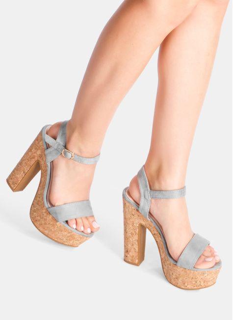 Sandaly Damskie Na Slupku Platformie Sportowe Z Pomponami Deezee Shoes Wedges Cork Wedge