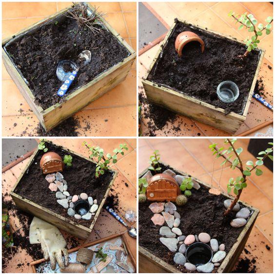 DIY: Cómo hacer un jardín de hadas (Fairy Garden) con una caja de vinos   Aprender manualidades es facilisimo.com