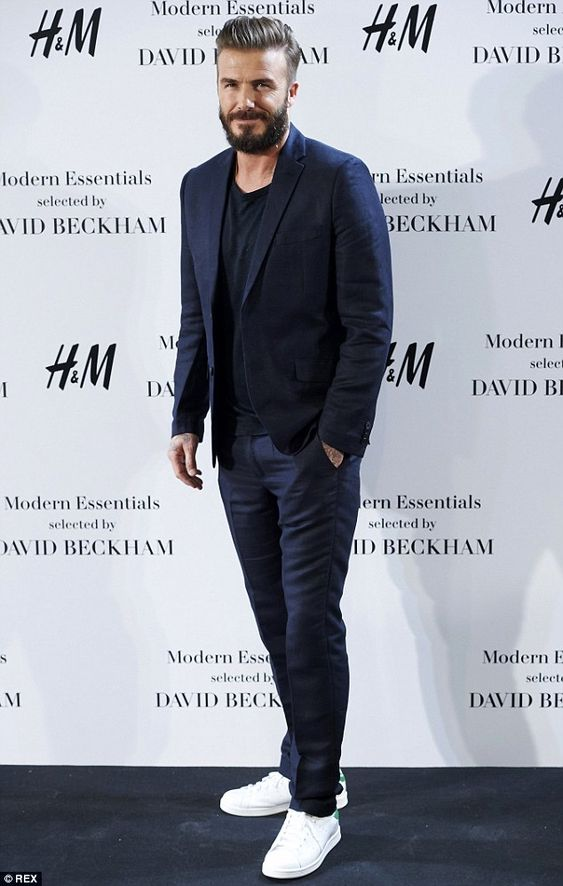 David Backhem's style with beard