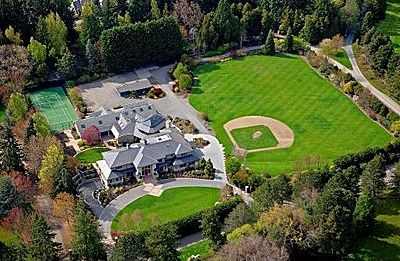 "A ""man space"" for both father and son -- your very own backyard baseball diamond! #mancave #sports"
