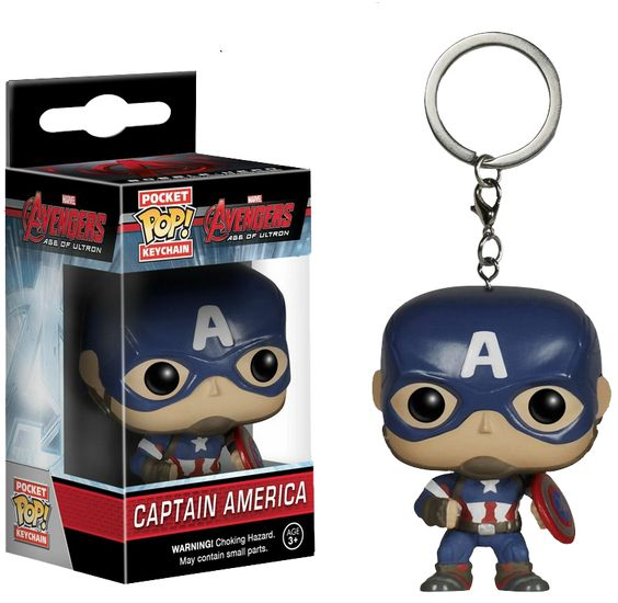 The Avengers - Avengers 2: Age of Ultron - Captain America Pocket Pop! Vinyl Keychain by Funko