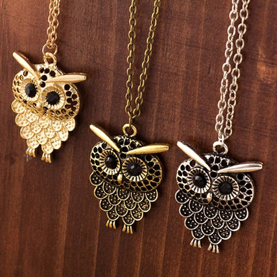 New Style Owl Necklace Alloy Metal Hollow Out Retro Pendant Long Sweater Chain Gifts Women Girl Lady Casual Accessory S1814: