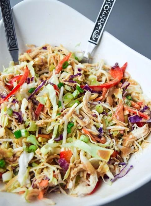 """<a href=""""https://go.redirectingat.com?id=74679X1524629&sref=https%3A%2F%2Fwww.buzzfeed.com%2Fannaborges%2Fnourish-my-flesh-prison&url=http%3A%2F%2Ftastythin.com%2Fasian-chicken-chopped-salad-whole30-paleo%2F&xcust=4524963%7CBFLITE&xs=1"""" target=""""_blank"""">Asian chicken chopped salad</a>:"""