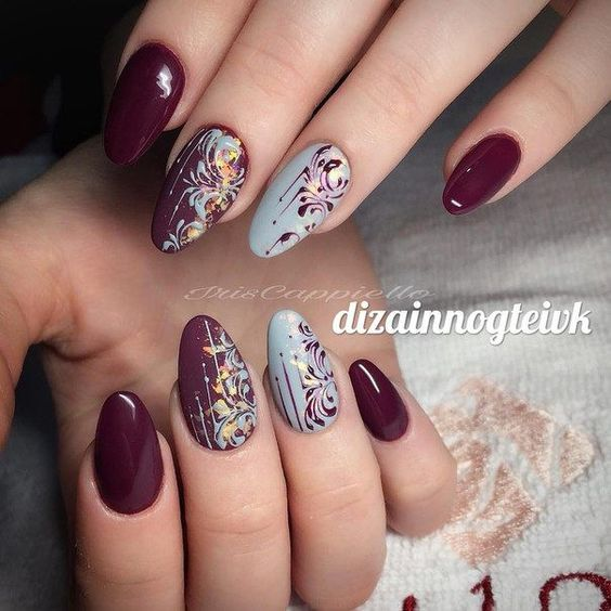 SWEET MAROON NAIL DESIGNS FOR FALL - Myeva for Healthcare, Skin care ...