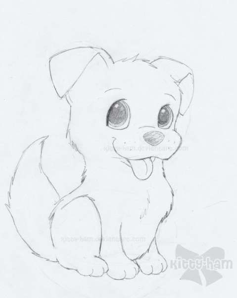 15 Sketches Of Puppies Sketch Drawingpencilwiki Com Cute Dog Drawing Dog Drawing Simple Animal Drawings