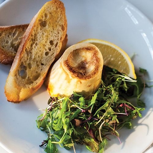 Roasted Marrow Bones. We've been inspired by the nose to tail movement to showcase a recipe featuring this delicious cut.