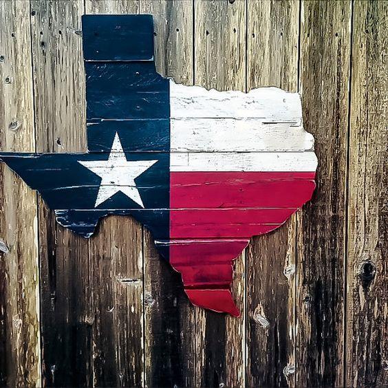 Texas Flag Wall Art  Reclaimed Wood Texas  por ShineBoxPrimitives