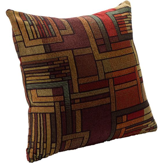 SIScovers Stickley Transitional Accent Pillow ($26) ❤ liked on Polyvore featuring home, home decor, throw pillows, multi, colorful throw pillows, colorful home decor, square pillow shams, multi color throw pillows and transitional home decor