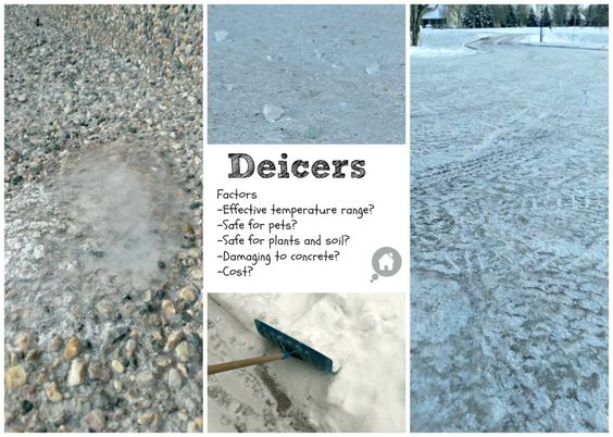 Prevent ice on the driveway and sidewalks
