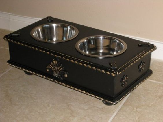Custom made small Black distressed Wood by pamperedpetdesigns, $65.00