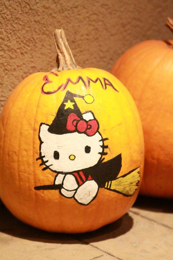 Emma 39 S 2010 Hello Kitty Pumpkin Print Image Off Internet