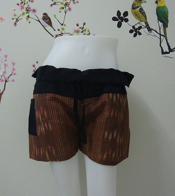 Brown shorts really awesome Etsy listing at https://www.etsy.com/listing/192095640/brown-shorts-handmade-in-thailand