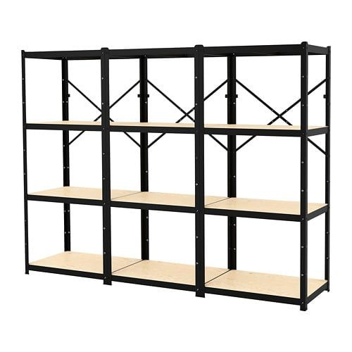 separation shoes f52dd b1419 IKEA BROR Black, Wood Shelving unit | + holy home // garage ...