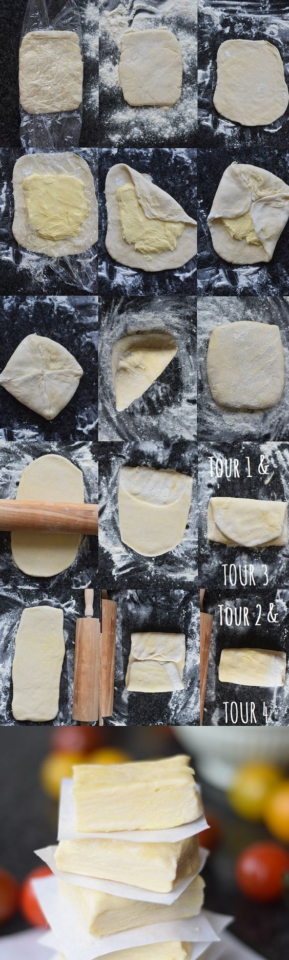 Blätterteig - Puff Pastry - How to - Basics #food #fowto #puffpastry