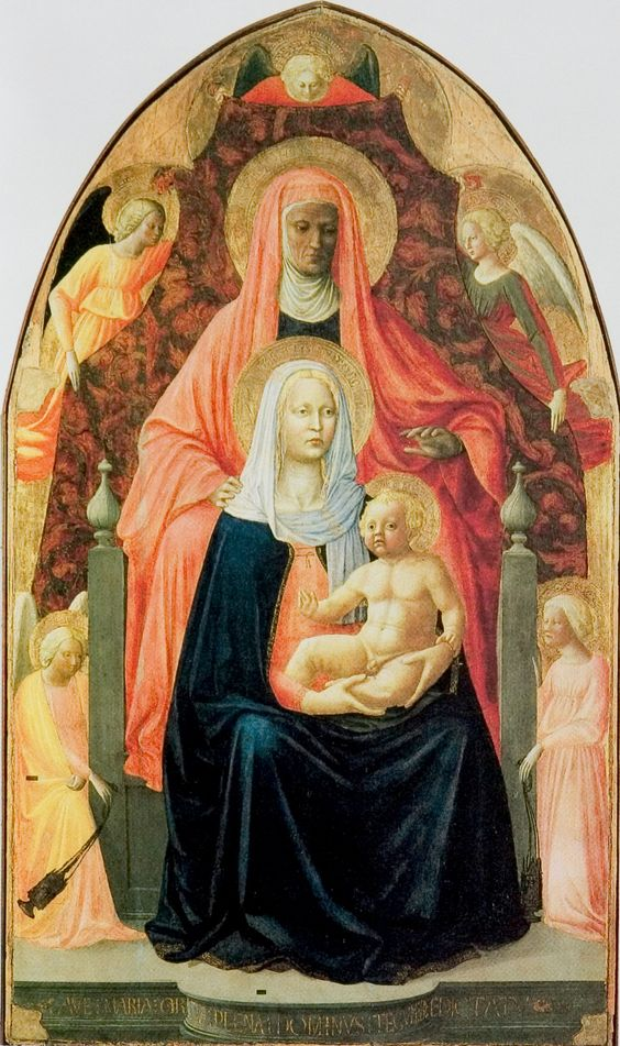 Masaccio the with the virgin mary