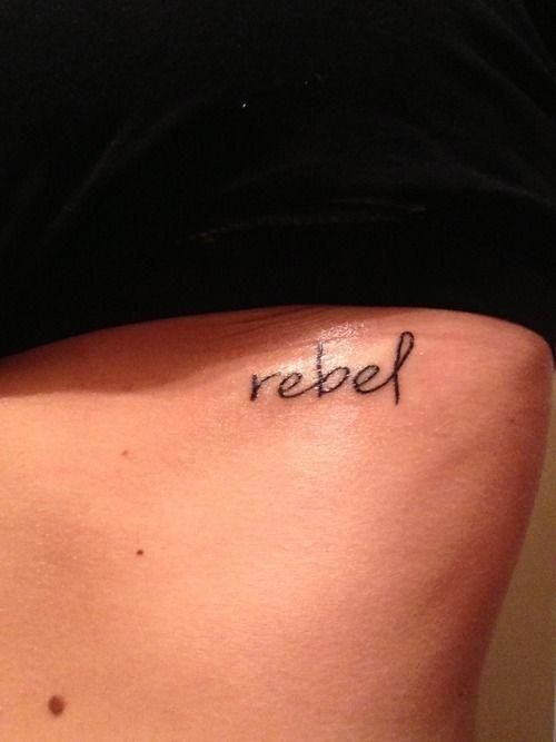 Rebel Word Tattoo : rebel, tattoo, Tattoos