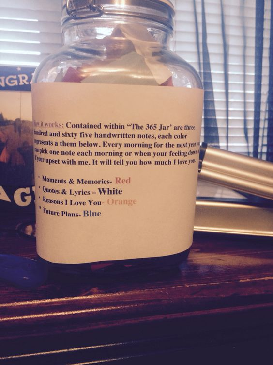 365 reason why i love you jar i made for my boyfriend for