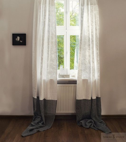 Light White Window Curtains In Scandinavian Style Thin Curtains In Scandinavian Design Industrial Window Decor Curtains To Loft White Paneling White Windows Curtains