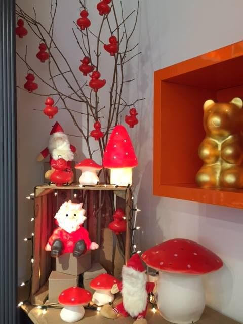 Egmont Toys flagship store in Uccle, Belgium. Toadstools.
