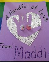 """A Handful of Love"" Valentine card."