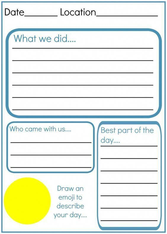 How To Make And Write An Amazing Kids Travel Journal With A Free Printable Worksheet With Travel Kids Travel Journal Travel Journal Prompts Vacation Journal