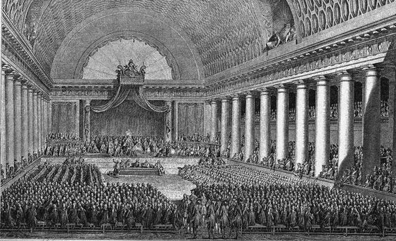 Louis XVI and the meeting of the Estate General at Versailles, 1789, French school