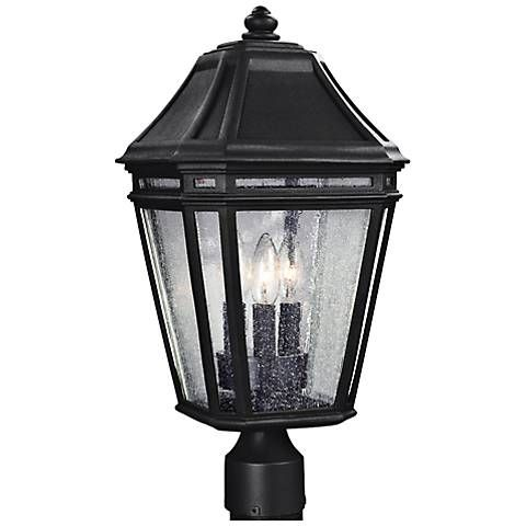 Feiss Londontowne 19 1 2 High Black Outdoor Post Light 8n732 Lamps Plus Outdoor Post Lights Lamp Post Lights Post Mount Lighting